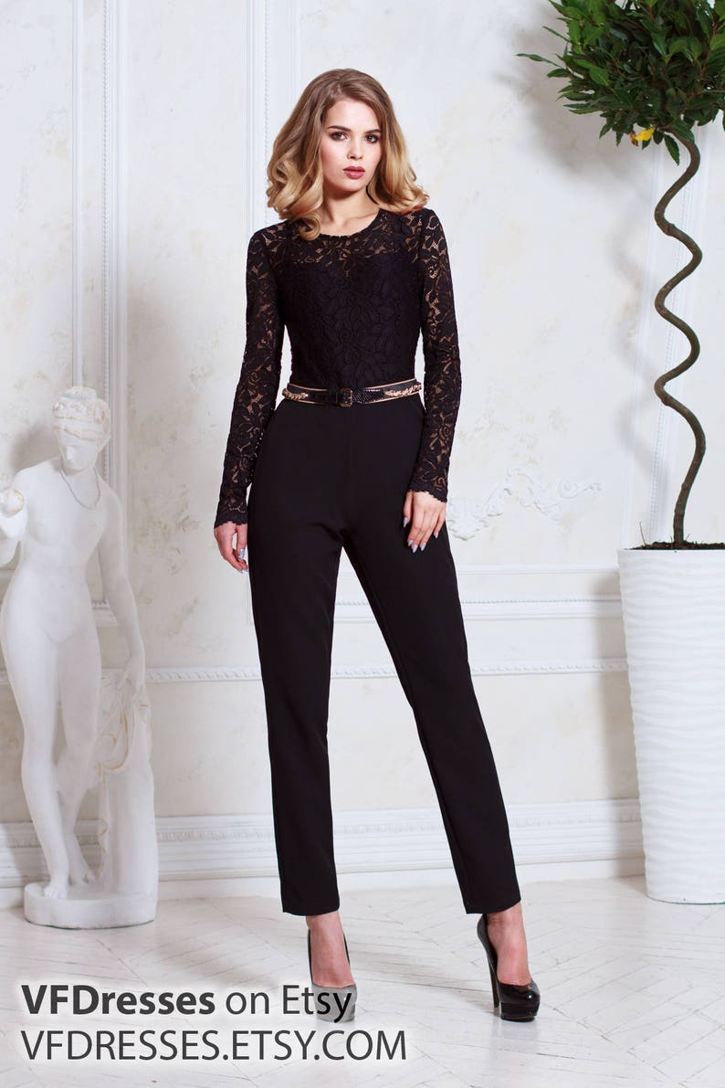 d2cd306762e3 Black jumpsuit Lace jumpsuit special occasion jumpsuits