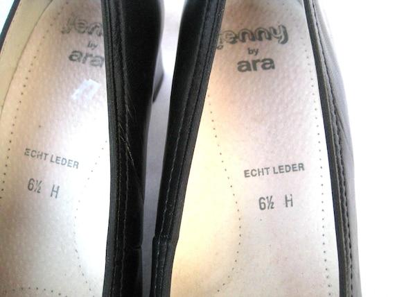 S FREEMOOD schwarz Leder Damen Schuhe Absatz Eisen glänzend Größe 9us6, 5uk40 EU