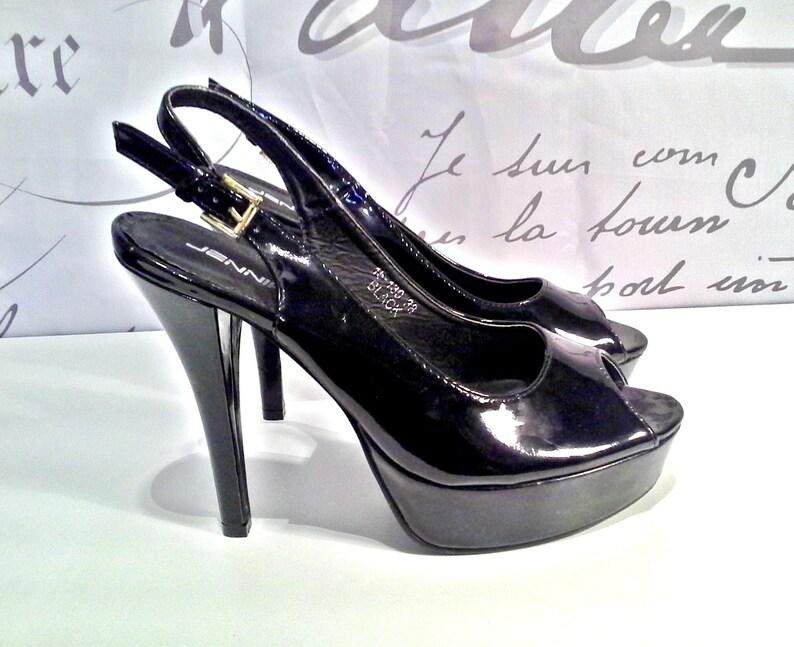 4605d34f205a9 JENNIKA Women's High Heel Shoes Polished Platform Open Toe SIze  7,5us/5uk/38eu