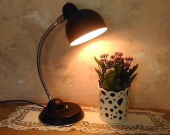 Desk lamp/Vintage lamp table/ light/ metal lamp/ original  black/ decor home/ gift for men/ vintage lamp USSR retro style