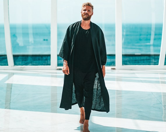 Viking Linen Robe