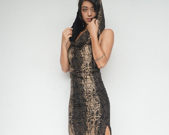 Snake Printed Priestess Ritual Dress