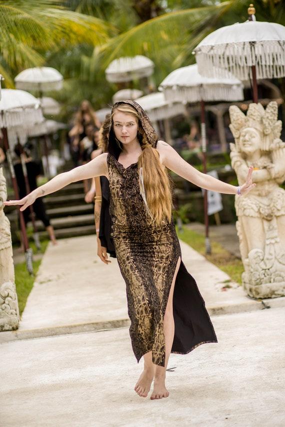 Snake Printed Priestess Ritual Dress