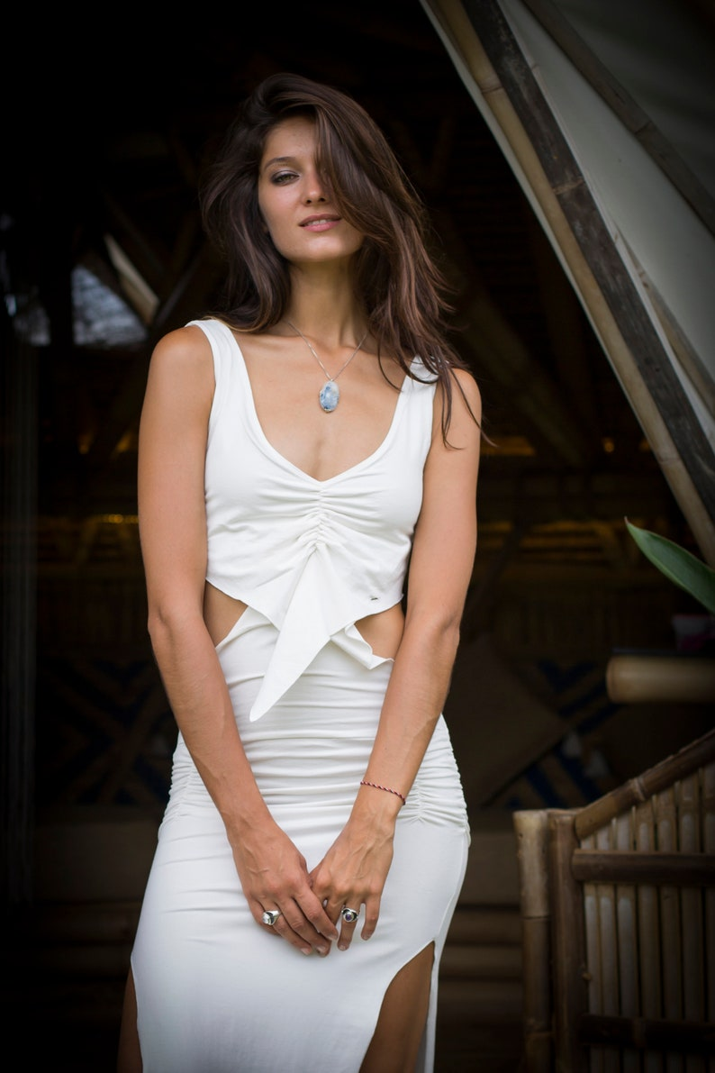 b14cb8184de Muse Bohemian Maxi Dress l Boho Summer Dress l Bohemian White