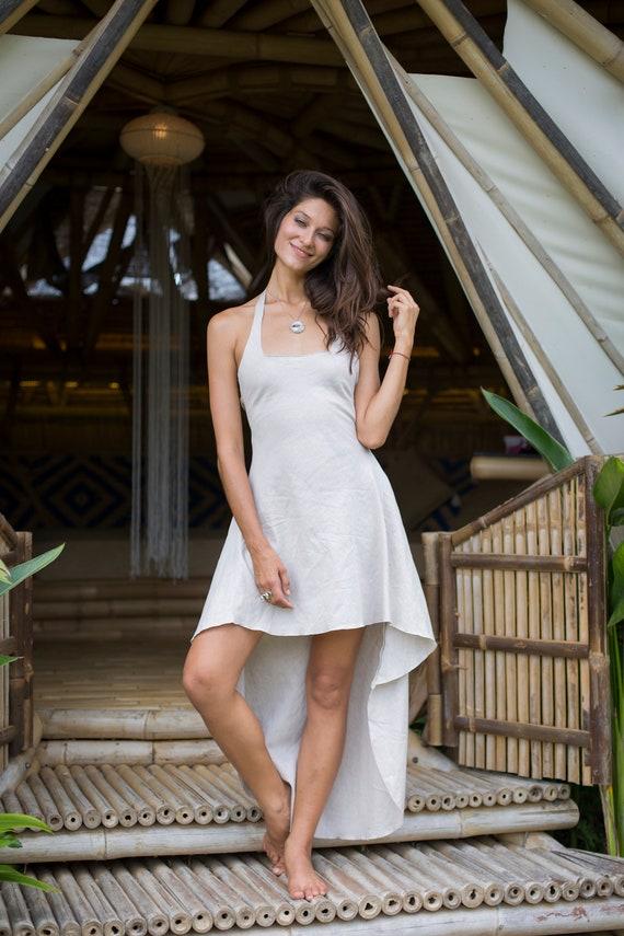 Moon Drip Linen Dress