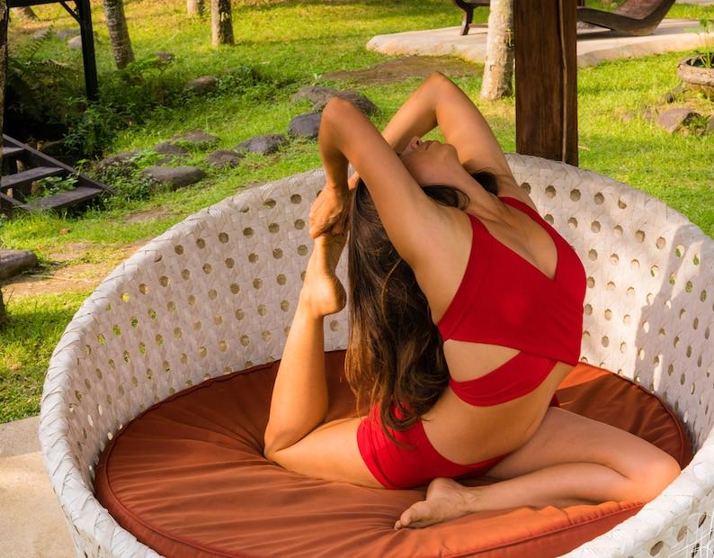 Strappy Bamboo Yoga Bralette l Ultra Soft Organic Yoga Bra l Festival Bra l Organic Bralette l Active Wear