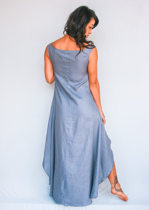Crescent Moon 100% Linen Dress