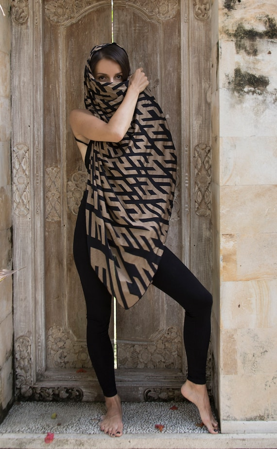Transformer Sarong with Sacred Geomerty Pattern
