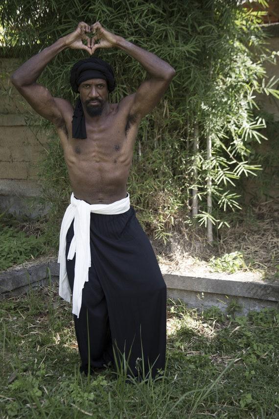5c3f29b754e Samurai Pants l Bamboo Clothing l Ninja Pants l Festival Pants