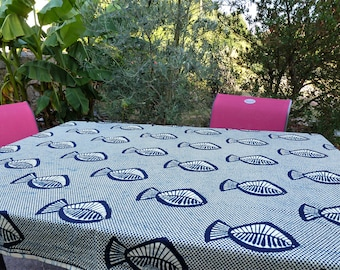 African Wall Hanging, Wax Fabric, Ethnic Hanging, African Fabric, Printed  Tablecloth, Ethnic Bed Blanket, Blue Tablecloth, Teenager Gift.