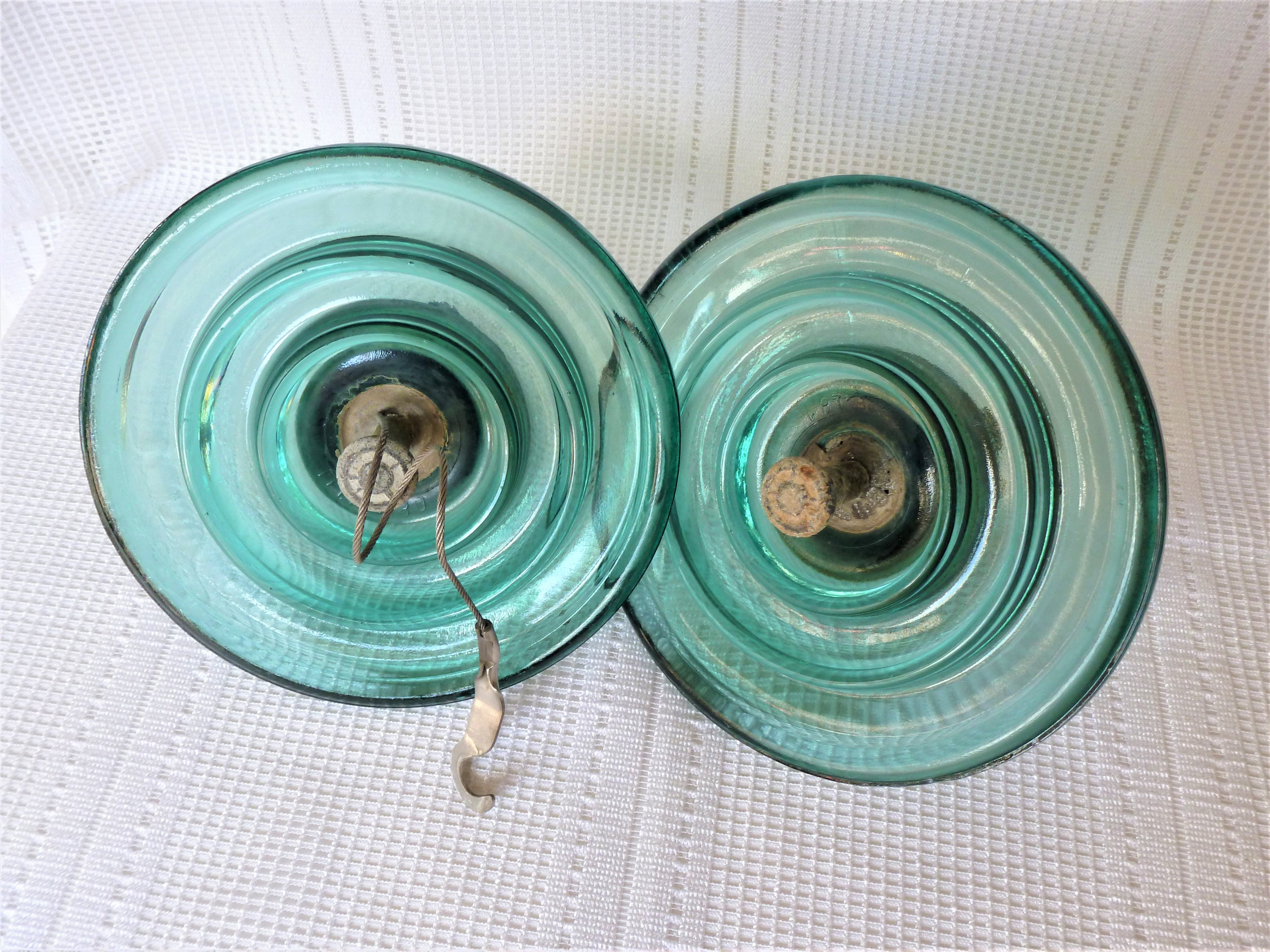 Electrical Insulator / Glass Insulator / Industrial Decor / Vintage  Insulator / Lamp Accessories / Lamp Supplies / For him / French decor