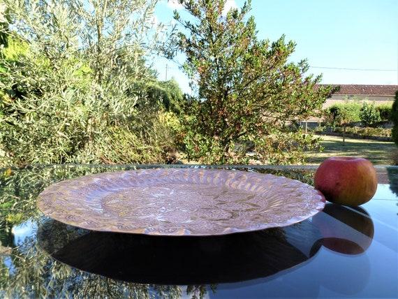 Marokkanische Kupfer dekorative Tablett Vintage Kupfer Tablett Wanddekoration Kupfer Servierschale Couscous Schale Kupfer schale.