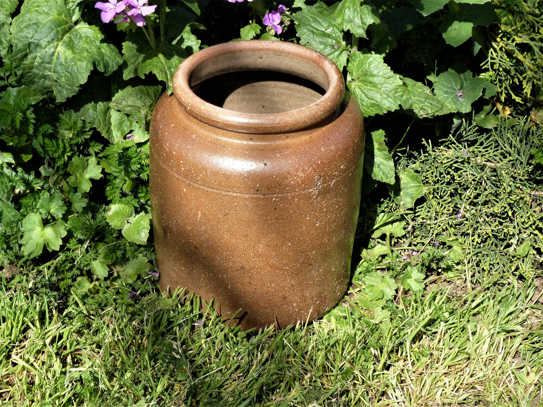 ancienne poterie terre cuite cruche en gr s pot en. Black Bedroom Furniture Sets. Home Design Ideas