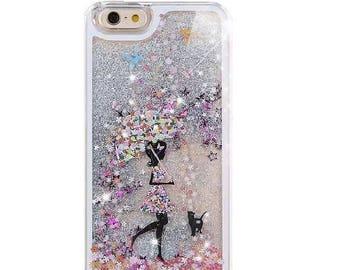Liquid Glitter Stars Bling Sparkle Moving Latest Design Case Cover For iPhone 4, 5c, 5, SE, 6, 6 Plus 7 Samsung S5, S6, S6 Edge, S7, S8