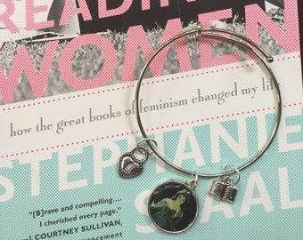 Women Reading charm bracelet