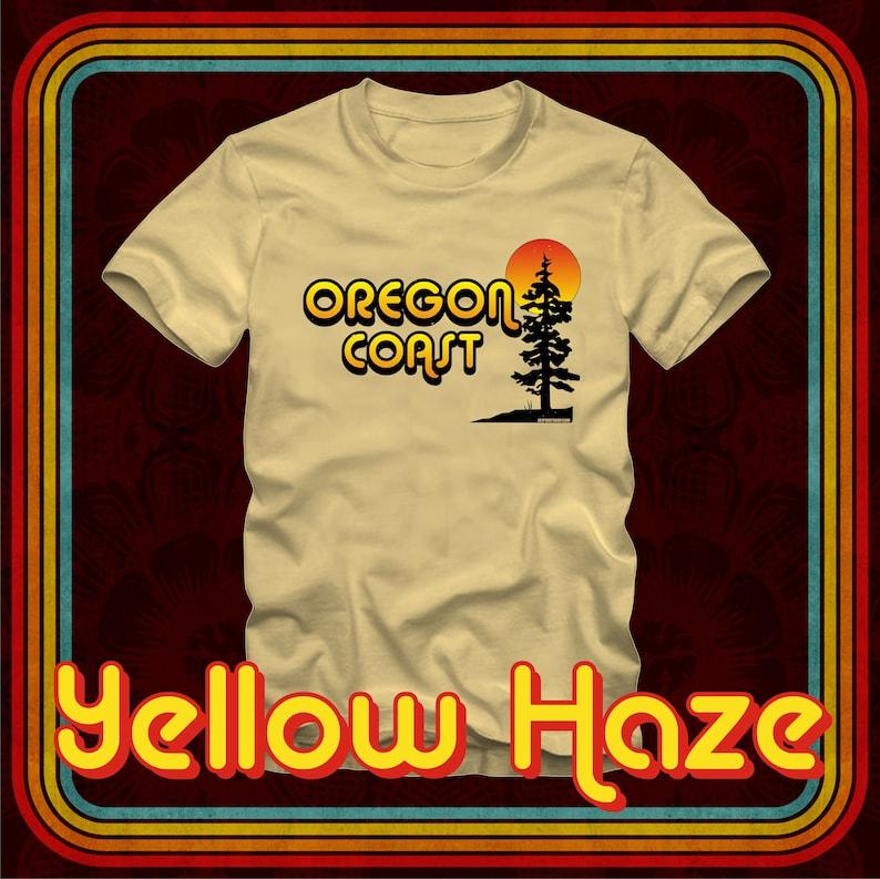 7bf645f1 OREGON COAST Retro Tree Sun T-Shirt Basic Men's/Unisex | Etsy