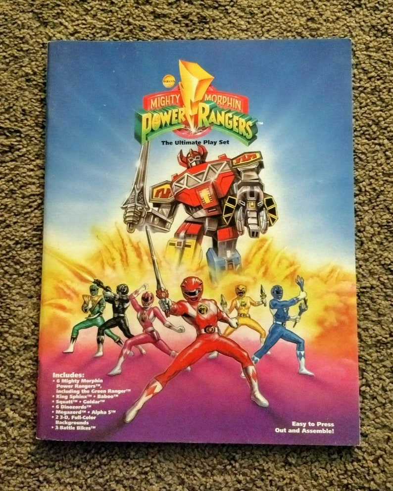 f63f292f6 Saban's Mighty Morphin Power Rangers The Ultimate Play Set   Etsy