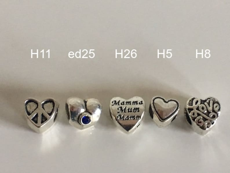 d84aebcdf 1 pc Heart charms as gift for birthday for bracelet of all | Etsy