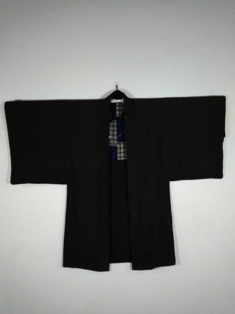 357850323bb Japanese Men s Brown Kimono Vintage Jacket Haori Floral