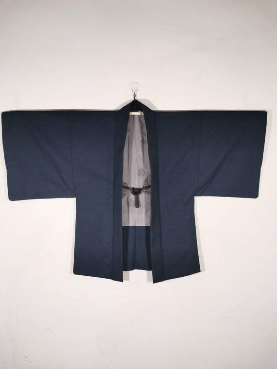 Japanese Blue Kimono Vintage Jacket Haori | Floral