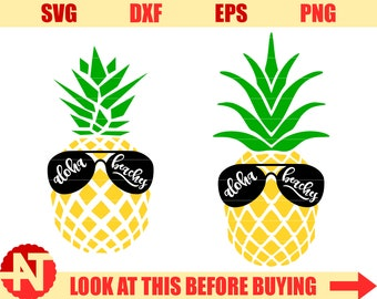 Aloha Beaches svg Pineapple Svg Aloha Beaches Pineapple svg files for Cricut Silhouette Sunglasses svg tropical summer svg dxf eps png