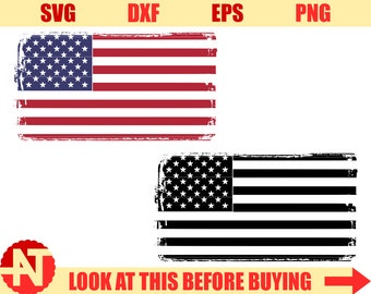 Distressed flag svg 4th of July SVG Us Flag svg files for cricut svg files for silhouette cutting file png dxf eps
