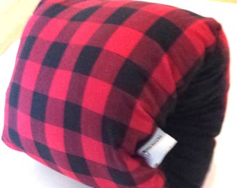 Breastfeeding arm pillow, red plaid nursing arm pillow,baby feeding pillow,cuddle upz arm pillow, feeding pillow, support pillow