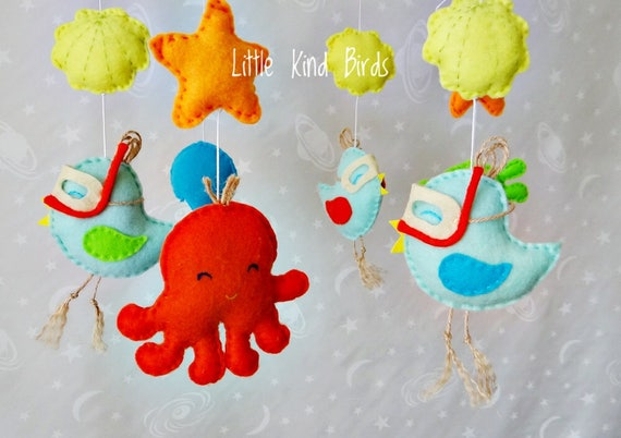 Baby Mobile Sea Unique Baby Mobile Nursery Decor Felt