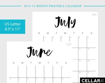 printable calendar etsy