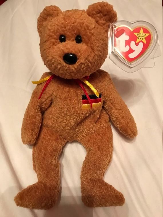 Ty Beanie Baby Germania Bear 1990 Rare in Mint Condition  9c19f472a13