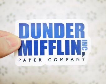 Dunder Mifflin Sticker - The Office Sticker - Michael Scott Dwight Schrute - Notebook Stickers - Popular Friends Stickers - Tumblr - S102