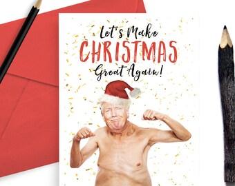 Donald Trump Funny Christmas Card - Greeting Card Set - Holidays - Xmas Card - Christmas Great Again - Yuge - Popular Christmas Card - G73