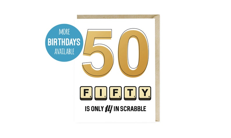 Funny 50th Birthday Card Happy Fifty Wishes For