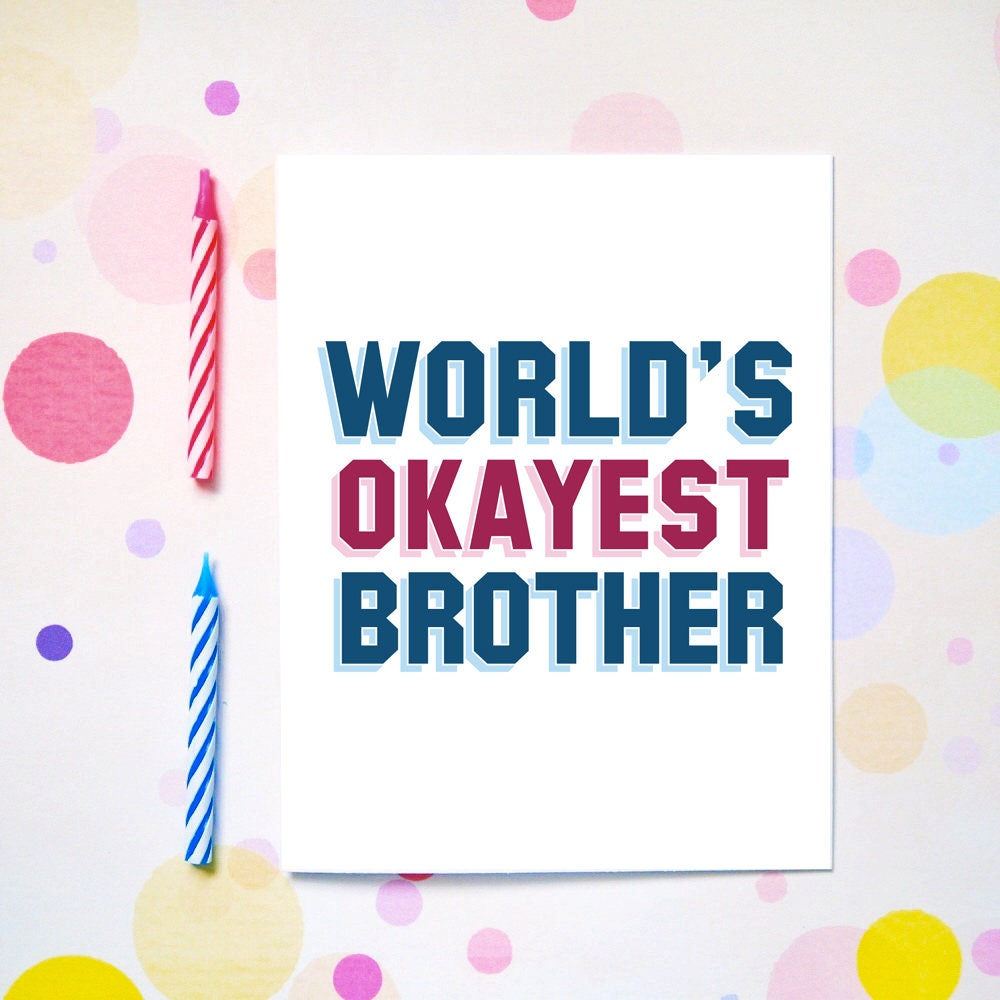 Birthday Cards For Brother Brother Birthday Cards Happy Etsy