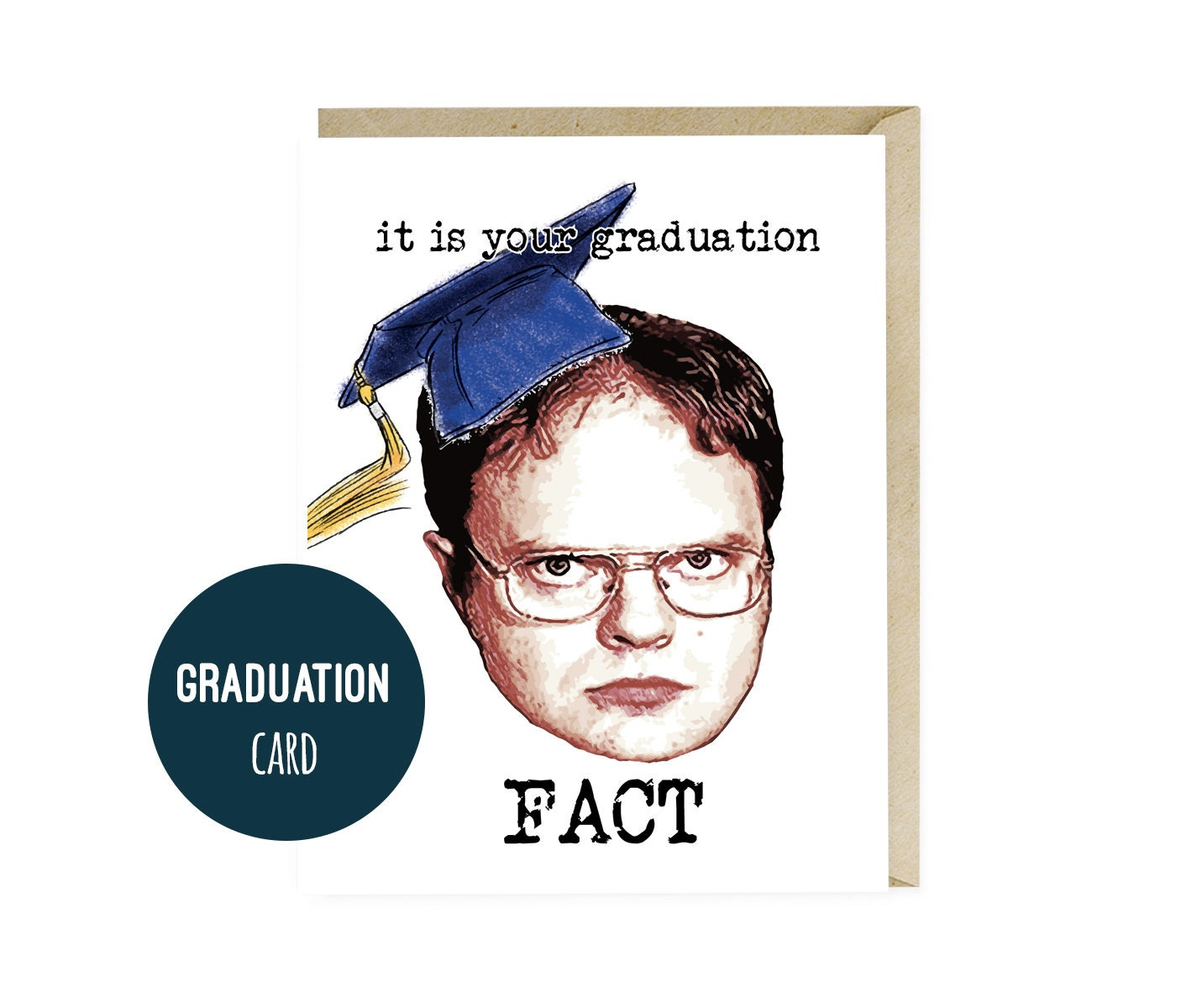 The Office Graduation Card Dwight Schrute Graduation Gifts Etsy