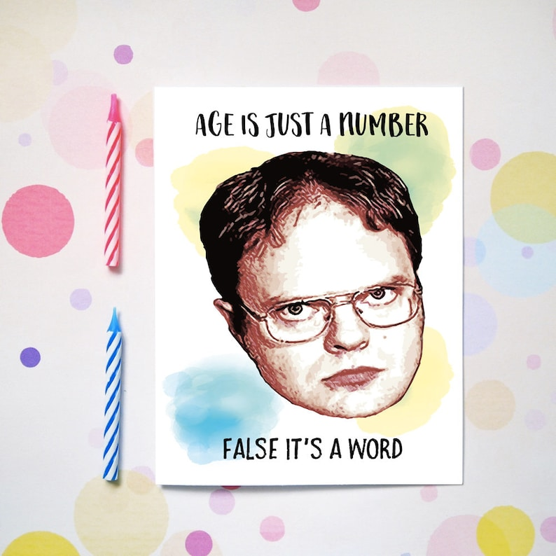 Dwight Schrute Birthday Card The Office Funny