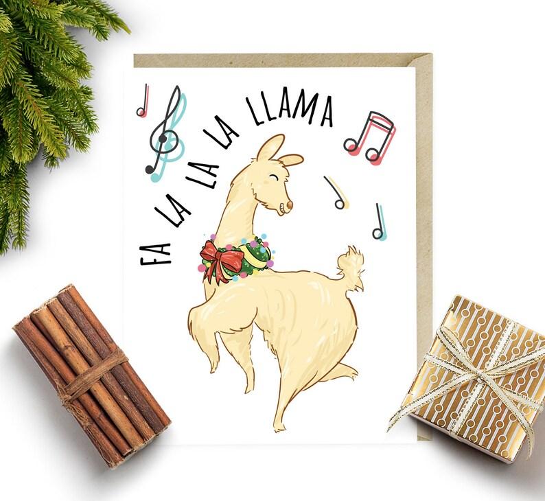 Ideen F303274r Weihnachtskarten.Klassische Lama Witzige Weihnachtskarte Fa La La La Lama Urlaub Karten Set Weihnachts Box Niedliche Weihnachtskarten Weihnachtslieder G80