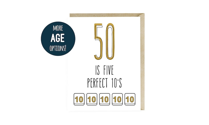 Funny 50th Birthday Card Happy Fifty Humor For