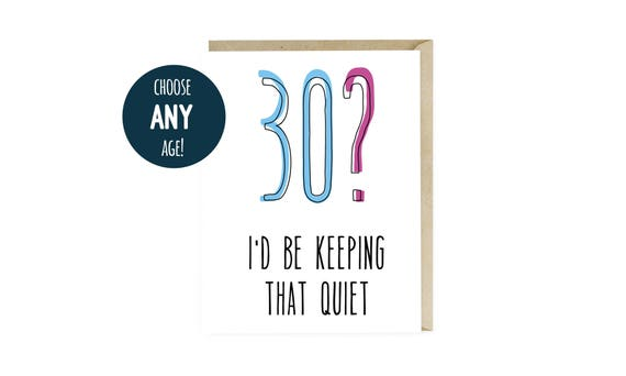 Funny 30th Birthday Card Happy Dirty Thirty