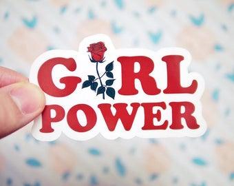 Girl Power Sticker - Grl Pwr Stickers - Women's Rights Stickers - Resist Stickers - Future is Female Sticker - Gender Equality Sticker  S110