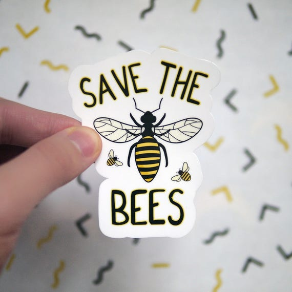 Save The Bees Sticker Bees Decals For Laptops And