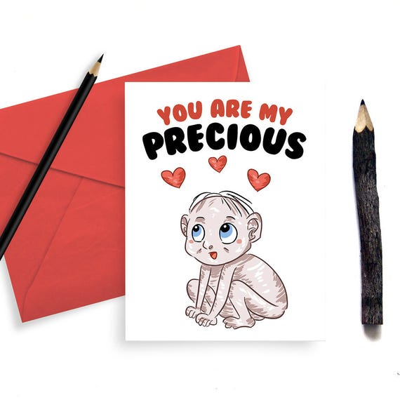 Cute Gollum Love Card LOTR Quote For Him Her Valentines Day Etsy Beauteous Clever Valentines Day Quotes