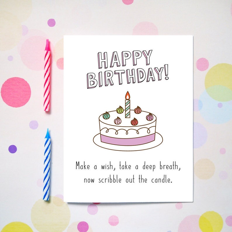 Make A Wish Birthday Card Funny Cards For Friends
