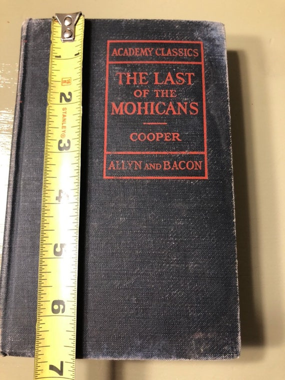 Book The Last Of The Mohicans By James Fenimore Cooper In 1927 Etsy