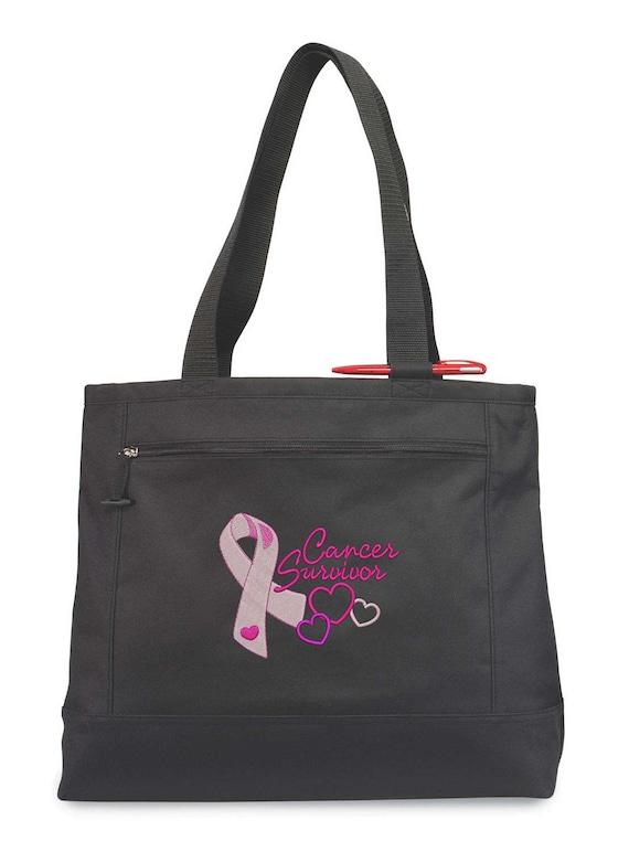 Childhood Cancer Awareness Tote Bag Embroidered Childhood Cancer Tote Bag Childhood Cancer Awareness Ribbon Childhood Cancer Fundraiser