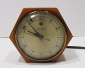 Telechron Caramel Bakelite Octagonal Electric Clock, Model 3 F 53