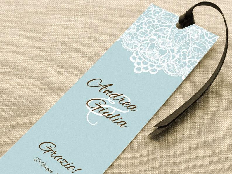 Segnaposto Matrimonio Azzurro : Segnaposto da personalizzare per eventi segnalibro etsy