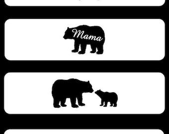 MAMA Bear Mother's Day Cuff Bracelet Add A Cub Bangle | Etsy
