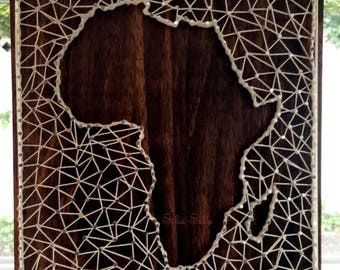 String art map etsy african map string art gumiabroncs Choice Image