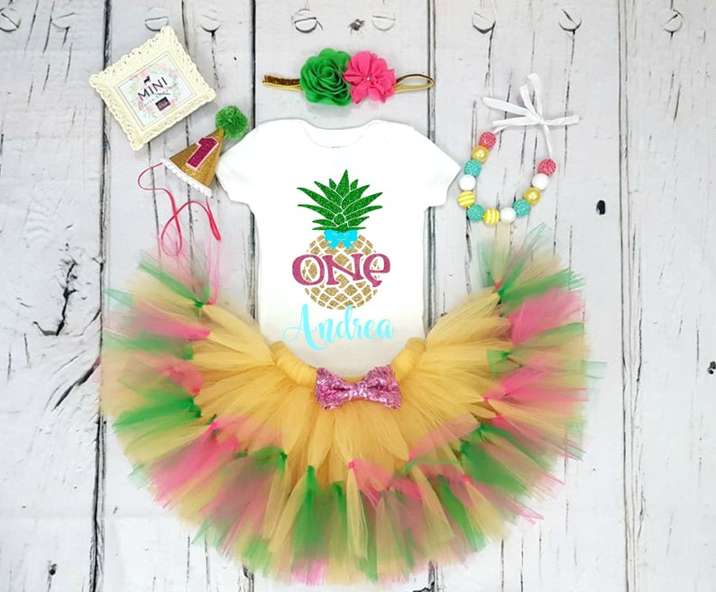 9d49ae3c7636 Pineapple 1st Birthday Outfit Pineapple First Birthday Tutu